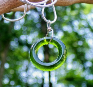 Bottled Up Olive Necklace