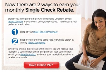 Rite Aid Single Check Rebates Online