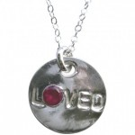 I Am Loved Silver Disk Necklace