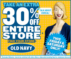 Old Navy 30% Off Two-Day Sale