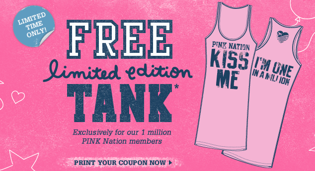 graphic about Victoria Secrets Coupons Printable identify Victorias Solution: Free of charge Red Country Tank
